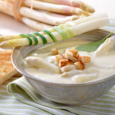 Spargel-Cremesuppe